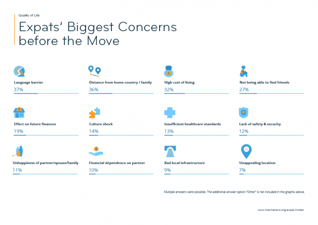 Expat Concerns — infographic
