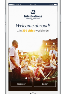 InterNations iPhone Login Page