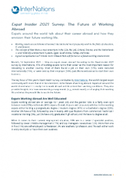 Press Release: The Future of Working Abroad Global