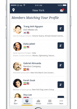 InterNations iPhone Members Matching Your Profile