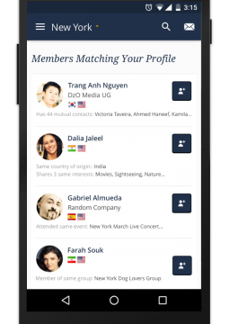 InterNations Android Members Matching Your Profile
