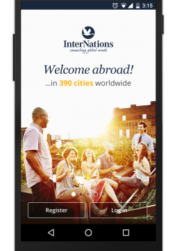 InterNations Android Login Page