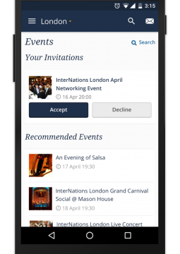 InterNations Android Events