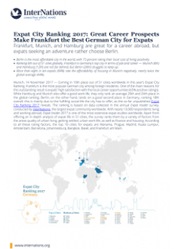 Germany: Great Career Prospects Make Frankfurt the Best German City for Expats