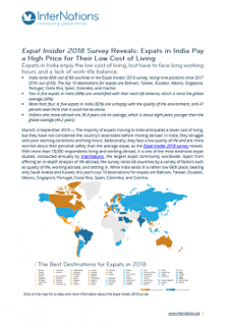 India: Expats in India Pay a  High Price for Their Low  Cost of Living
