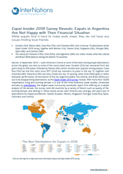 Argentina: Expats in Argentina Are Not Happy with Their Financial Situation