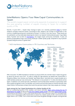InterNations Opens Four New Expat Communities in Spain