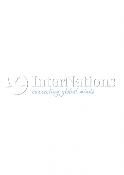 InterNations Negative Slogan Logo