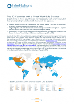 Global: Top 10 Countries with a Great Work-Life Balance
