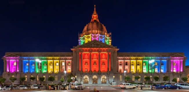 Some state governments, like California, show more support for gay rights than others.