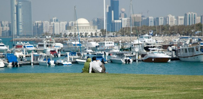 Abu Dhabi, a former pearl diver settlement, is home to 900,000 people.
