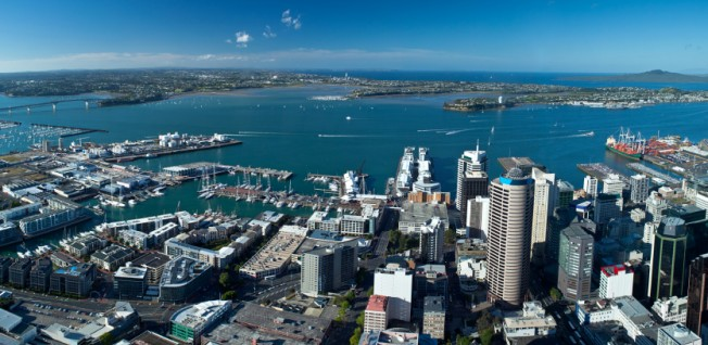Auckland, located on the northern island, is the biggest urban center in New Zealand.