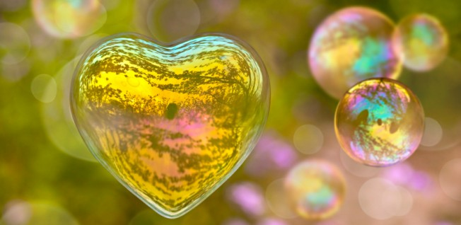 Heart-Shaped Soap Bubble