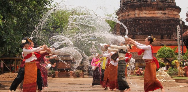 The Songkran Festival in Thailand would be any kid's dream of a New Year's celebration.