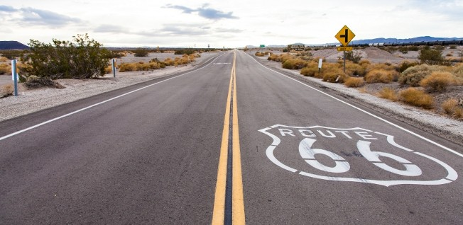 The famous route 66 is only a small part of the USA's vast road network.