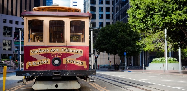 San Francisco is famous for its historical cable cars.