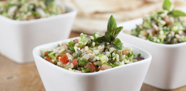 The light and lemony Tabbouleh is the perfect dish for a hot day.