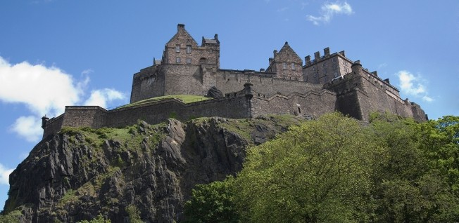 Edinburgh's Castle Rock dominates the city's Old Town.