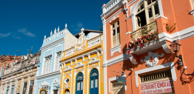 Many beautiful buildings in Brazil are from the colonial era.