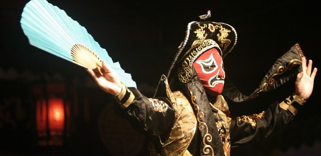 The Cantonese opera pays plenty of attention to lavish costumes.