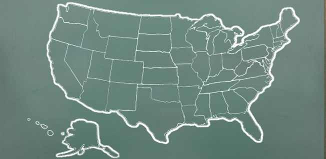 Find an outline of the USA below.