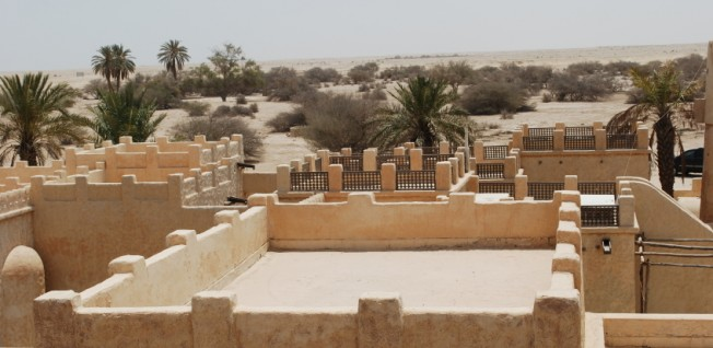 Expat housing in Qatar is usually more modern than this Middle-Eastern architecture.