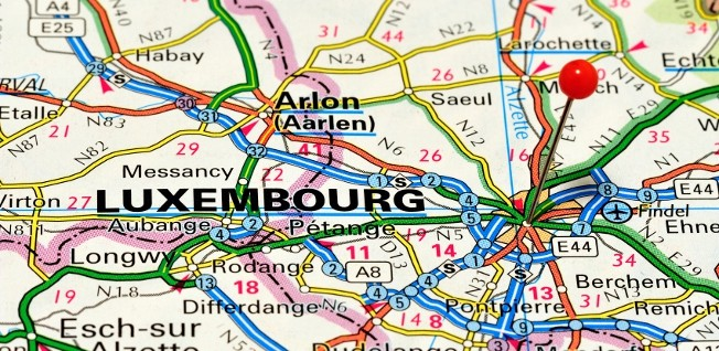 Luxembourg is a tiny nation sharing borders with Germany, France, and Belgium.