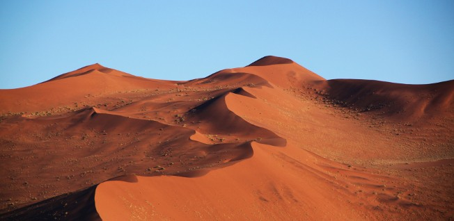 One of Namibia's five geographical areas is the vast and barren Namib Desert.