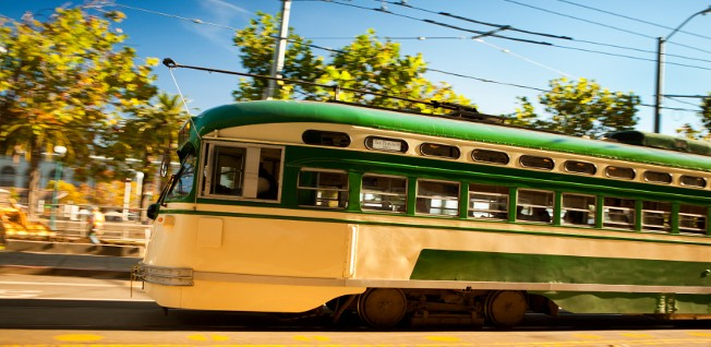 San Francisco's historic streetcars are part of an extensive and affordable public transport network.