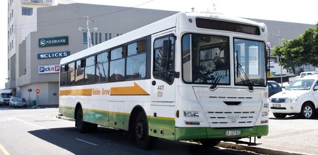 The Golden Arrow bus service is a common view in Cape Towns streets.