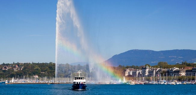 Lake Geneva, also referred to as Lac Léman, is Geneva's main attraction.