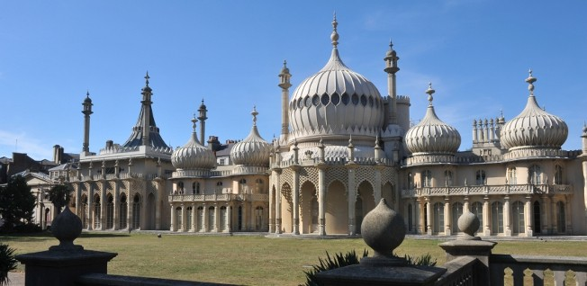 The Royal Pavilion, a former royal residence in Brighton, was the original reason for Brighton's rise as a fashionable resort.