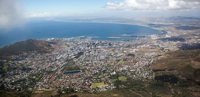 Be sure to visit Table Mountain to enjoy a picturesque view over Cape Town.