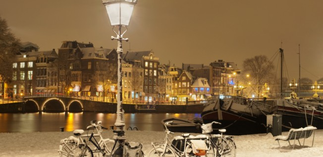 "Amsterdam is sometimes jokingly called ""a cosmopolitan village""."