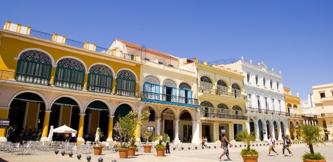 Plaza Vieja is located in the heart of Old Havana.