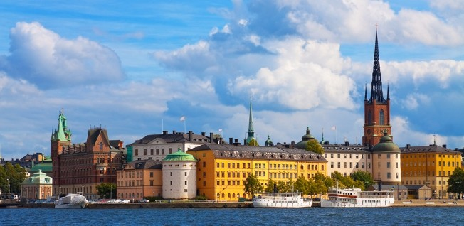 Stockholm is a green city located on 14 different islands.