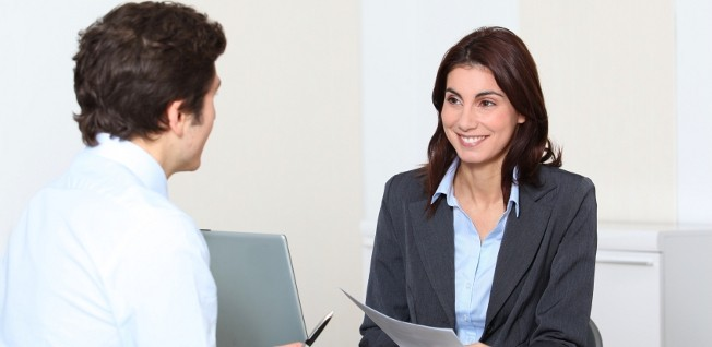 Make a good impression during your interview by dressing professionally and speaking confidently.