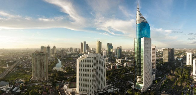 Jakarta's CBD houses many insurance companies as well as the Indonesia Stock Exchange.