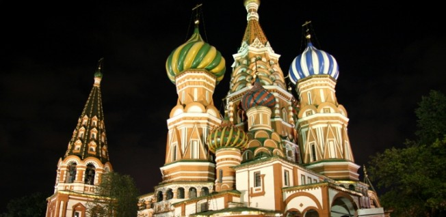 St. Basil's Cathedral is located right in the historical heart of Moscow.