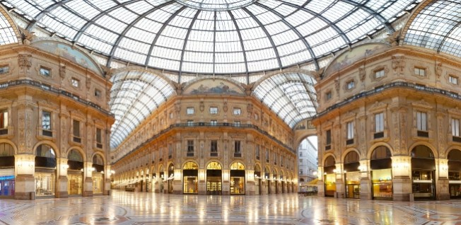 The Vittorio Emanuele II gallery is Italy's most famous shopping arcade.