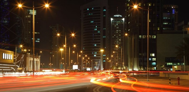 Heavy traffic and chaos is a daily occurrence for everyone driving in Qatar.