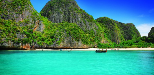 Sort out your visa for Thailand and move to places like Koh Phi Phi Ley!