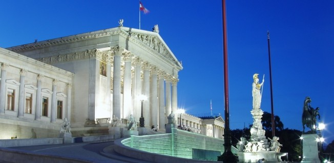 Many important Austrian political and administrative entities are located in Vienna.