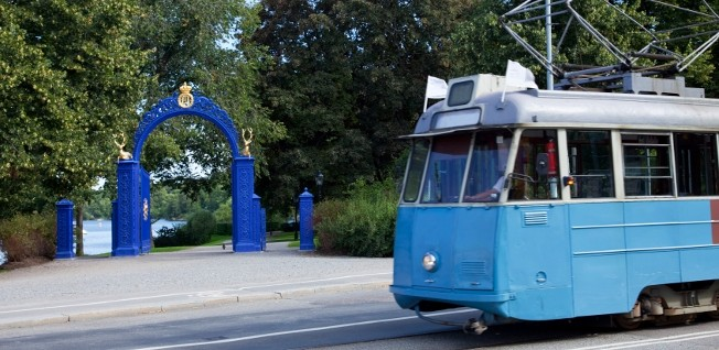 Taking Tram 7 to Djurgården is an excellent way to explore Stockholm.