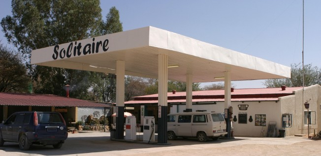 Be sure to top up whenever you see a gas station when traveling in remote regions of Namibia.