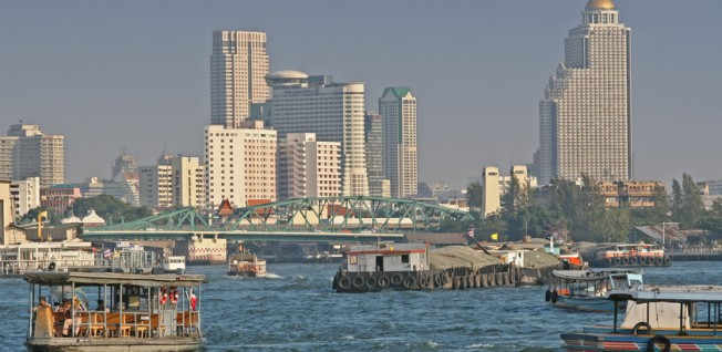 River transport is often preferable to driving on the congested roads of Bangkok.