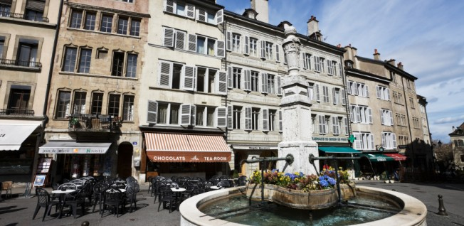 Geneva's Place Bourg de Four is a great place to relax.