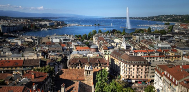 The city of Geneva belongs to the French-speaking part of Switzerland.