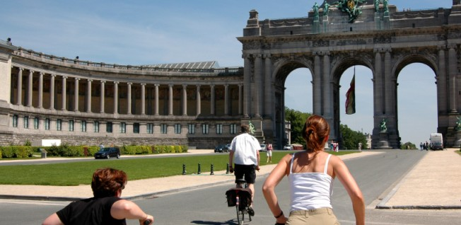 Cycling to work is a popular option in Brussels.