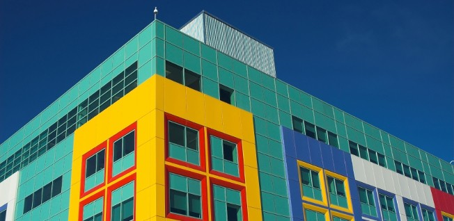 There are a number of medical centers in Calgary, for example the colorful Alberta Children's Hospital.